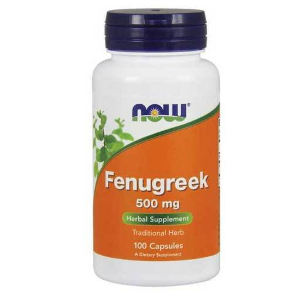 Now Foods Fenugreek 500 Mg 100 Capsules Herbs Now Foods  (1059136471083)