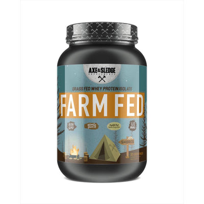 Axe & Sledge FarmFed Protein 30 Servings Protein Powders AXE & SLEDGE SMORES  (1812332412971)