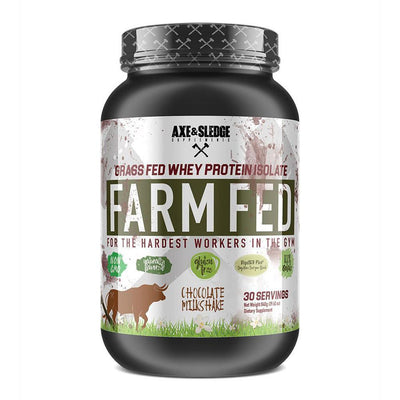 Axe & Sledge FarmFed Protein 30 Servings | Grass Fed Whey Protein Isolate Protein Powders AXE & SLEDGE CHOCOLATE  (1812332412971)