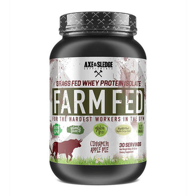 Axe & Sledge FarmFed Protein 30 Servings | Grass Fed Whey Protein Isolate Protein Powders AXE & SLEDGE CINNAMON APPLE PIE  (1812332412971)