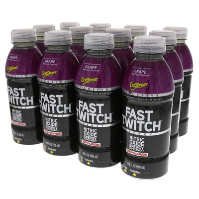 Fast Twitch RTD 12 Bottles | CytoSport 16.9 oz Diet/Energy CytoSport Grape  (1058918236203)