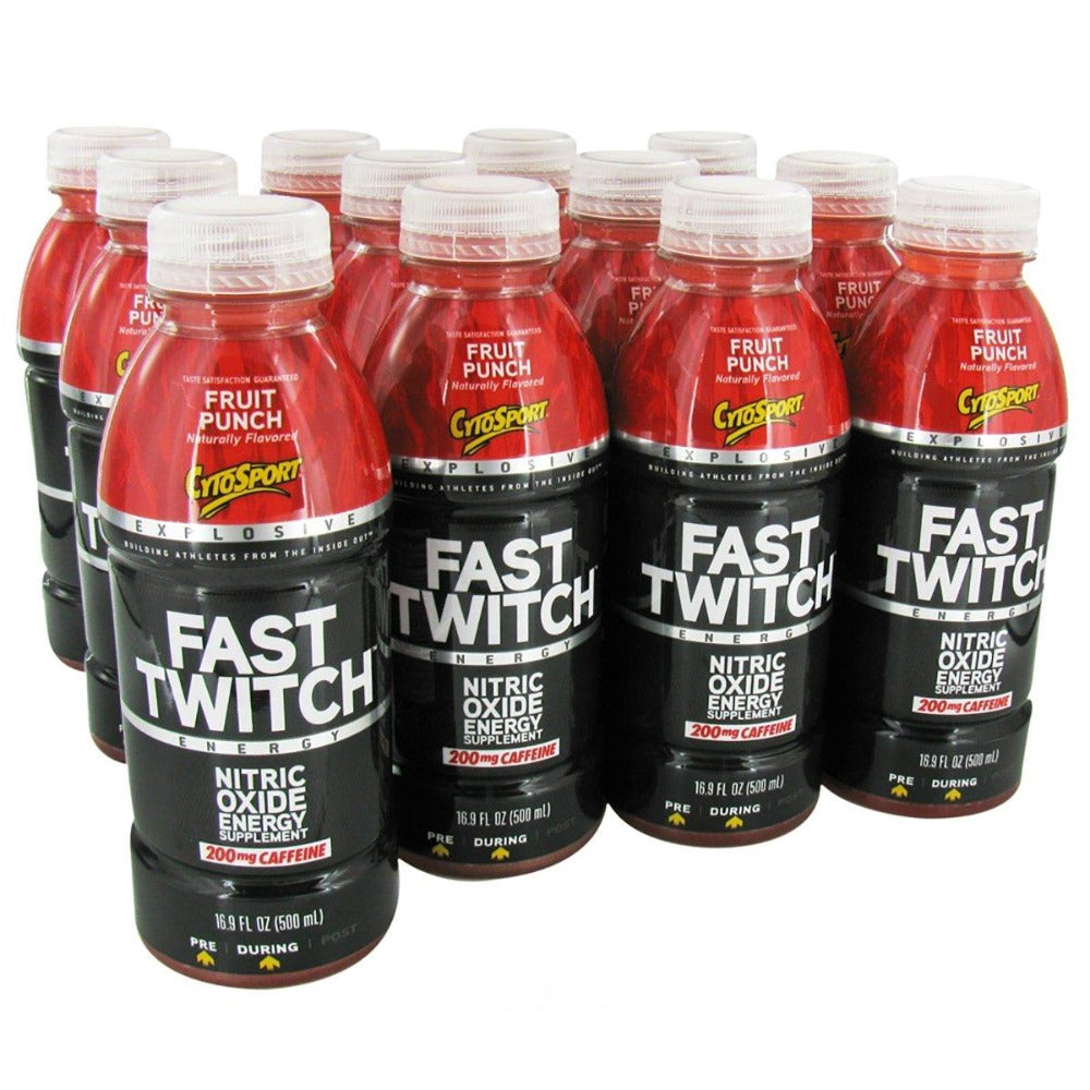 Fast Twitch RTD 12 Bottles | CytoSport 16.9 oz Diet/Energy CytoSport Fruit Punch  (1058918236203)