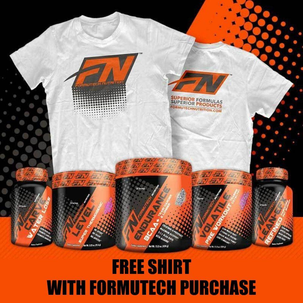 FORMUTECH T-SHIRT Fitness Accessories and Apparel Formutech Nutrition  (1368904532011)