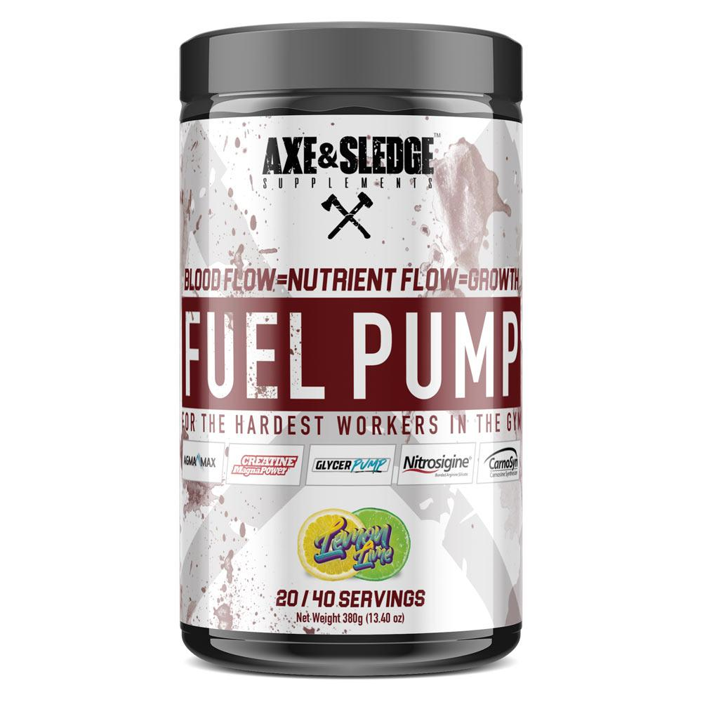 Axe & Sledge Fuel Pump 40 Servings | Stimulant-Free Pre-Workout Store Stock Only AXE & SLEDGE LEMON LIME  (1812332478507)