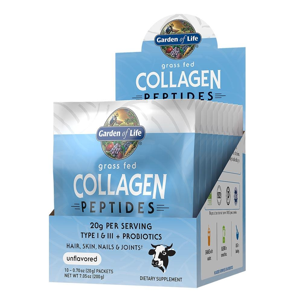 Garden Of Life Grass Fed Collagen 10 Packets Protein Powders Garden of Life  (1622411247659)