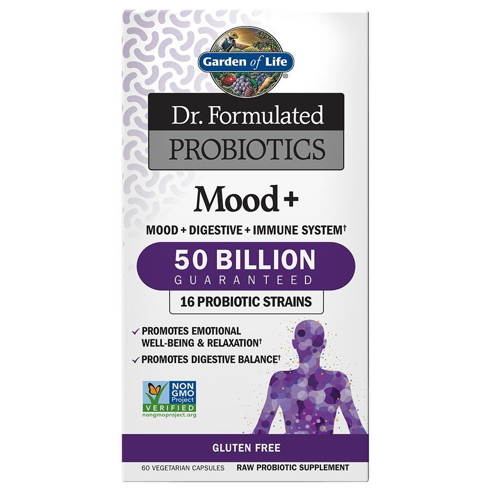 Garden of Life Dr. Formulated Probiotics Mood+ 60 Vege Caps Digestive Health / Probiotics Garden of Life  (1059189030955)