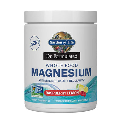 Garden of Life Dr. Formulated Whole Food Magnesium 7oz Vitamins & Minerals Garden of Life Raspberry Lemon