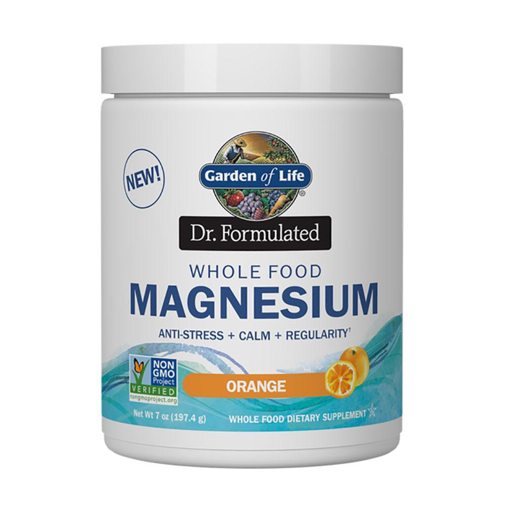 Garden of Life Dr. Formulated Whole Food Magnesium 7oz Vitamins & Minerals Garden of Life Orange