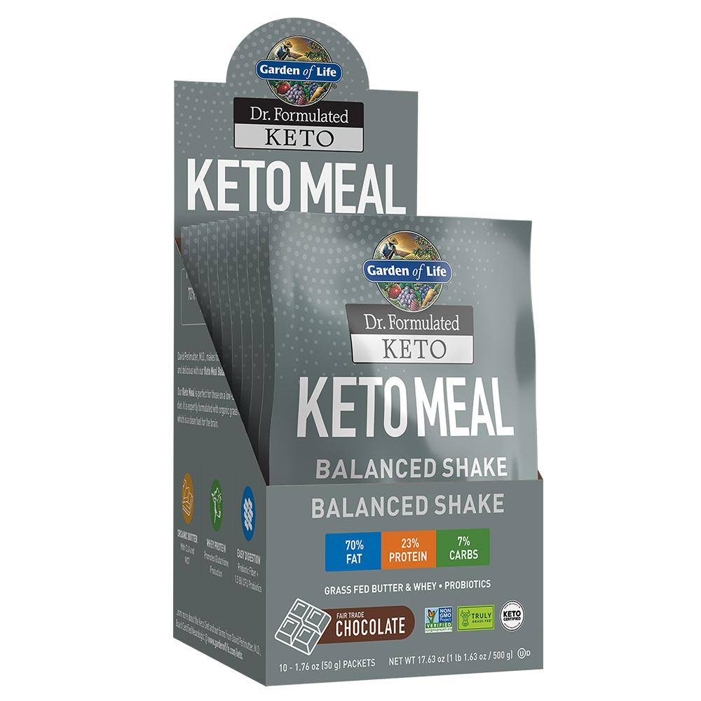 Garden Of Life Keto Meal 10 Packets Meal Replacement Powders Garden of Life CHOCOLATE  (1622410428459)