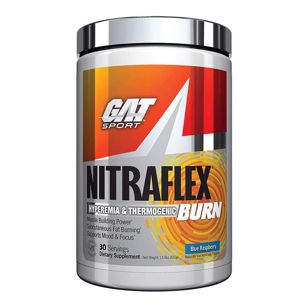 GAT Nitraflex Burn Blue Raspberry 30 Servings Fat Burner GAT  (4379618213953)