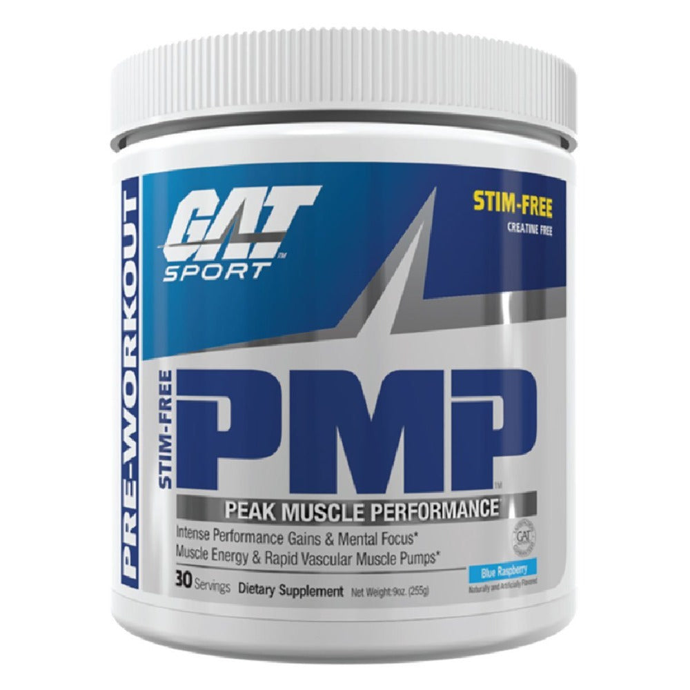 GAT PMP Blue Raspberry Stim Free 255 Grams Pre-workout GAT  (1059202629675)