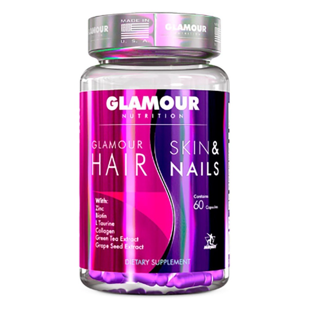 GLAMOUR NUTRITION HAIR SKIN NAILS 60 CAPS Personal Care Glamour Nutrition  (1205093761067)