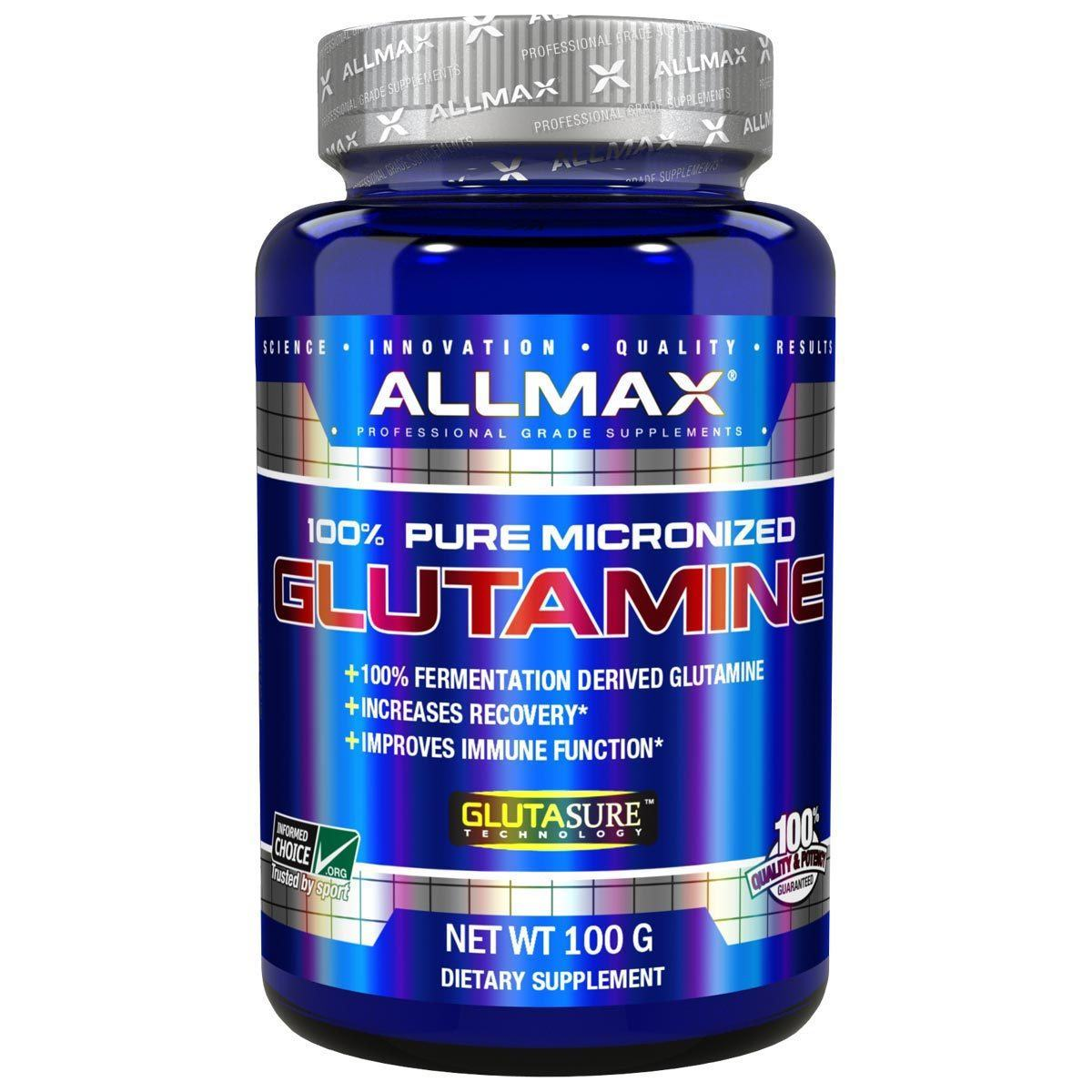 Allmax Nutrition Glutamine 100 Grams Sport Performance / Recovery Allmax Nutrition  (1059095937067)