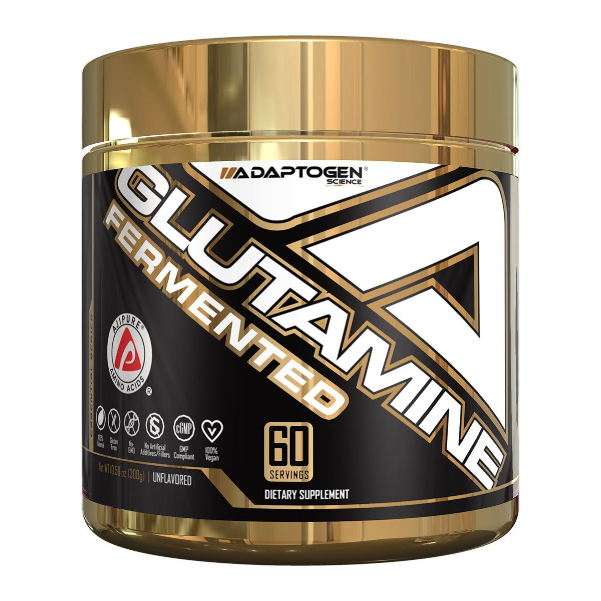 Adaptogen Science Glutamine 60 Servings Sports Performance & - Recovery Adaptogen Science  (1424013393963)
