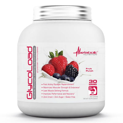 Metabolic Nutrition Glycoload 30 Servings Sport Performance / Recovery Metabolic Nutrition Fruit Punch  (1059234840619)
