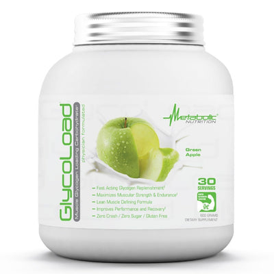 Metabolic Nutrition Glycoload 30 Servings Sport Performance / Recovery Metabolic Nutrition Green Apple  (1059234840619)