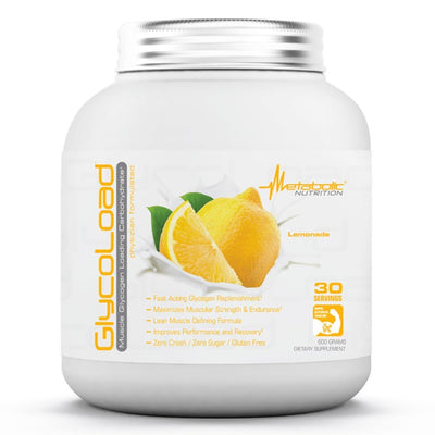 Metabolic Nutrition Glycoload 30 Servings Sport Performance / Recovery Metabolic Nutrition Lemonade  (1059234840619)