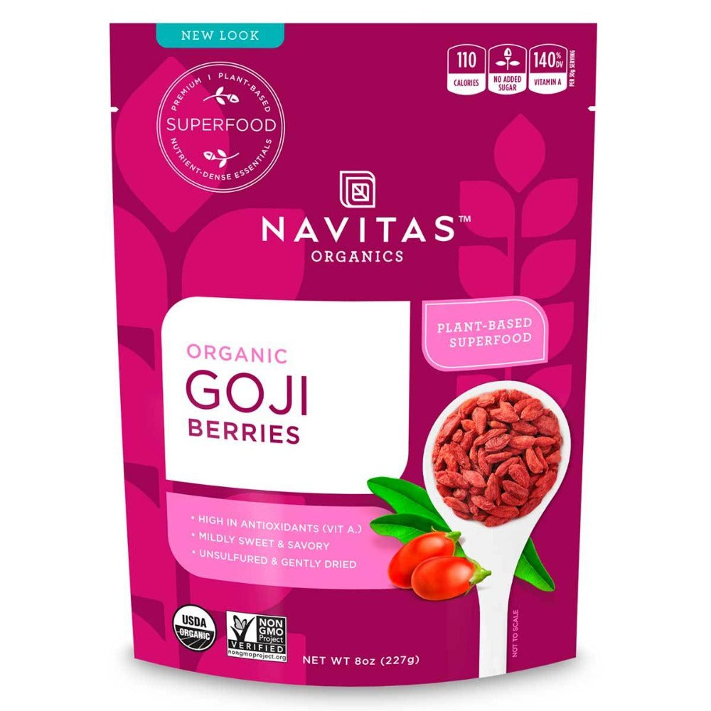 Navitas Naturals Sun-Dried Goji Berries (Certified Organic) 8 Oz Foods & Snacks Navitas Naturals  (1058628304939)