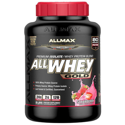 Allmax Nutrition AllWhey Gold 5 Lbs Protein Allmax Nutrition Strawberry  (1058609791019)