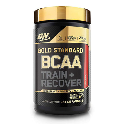 Optimum Nutrition Gold BCAA Train & Recover 28 Servings | Muscle Recovery Amino Acids Optimum Nutrition Fruit Punch  (1796694835243)