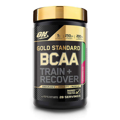 Optimum Nutrition Gold BCAA Train & Recover 28 Servings | Muscle Recovery Amino Acids Optimum Nutrition Strawberry Kiwi  (1796694835243)