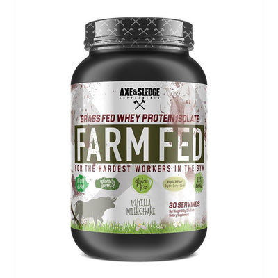 Axe & Sledge FarmFed Protein 30 Servings | Grass Fed Whey Protein Isolate Protein Powders AXE & SLEDGE VANILLA  (1812332412971)