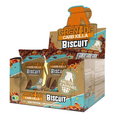 Grenade Carb Killa Biscuit 12/Pack Foods Juices Grenade Caramel  (4468261814337)