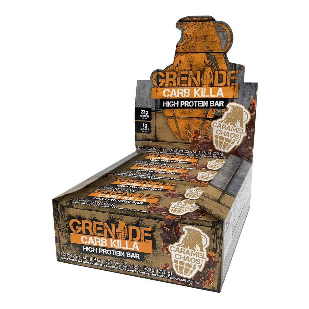 Grenade Carb Killa 12/Box Bars Grenade Caramel Chaos  (4538106183745)