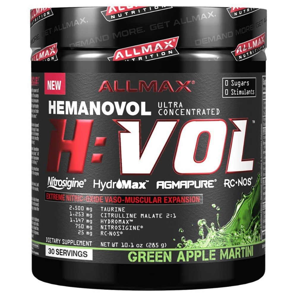 Allmax Nutrition H:VOL 30 Servings Diet/Energy Allmax Nutrition Green Apple Martini  (1059080110123)