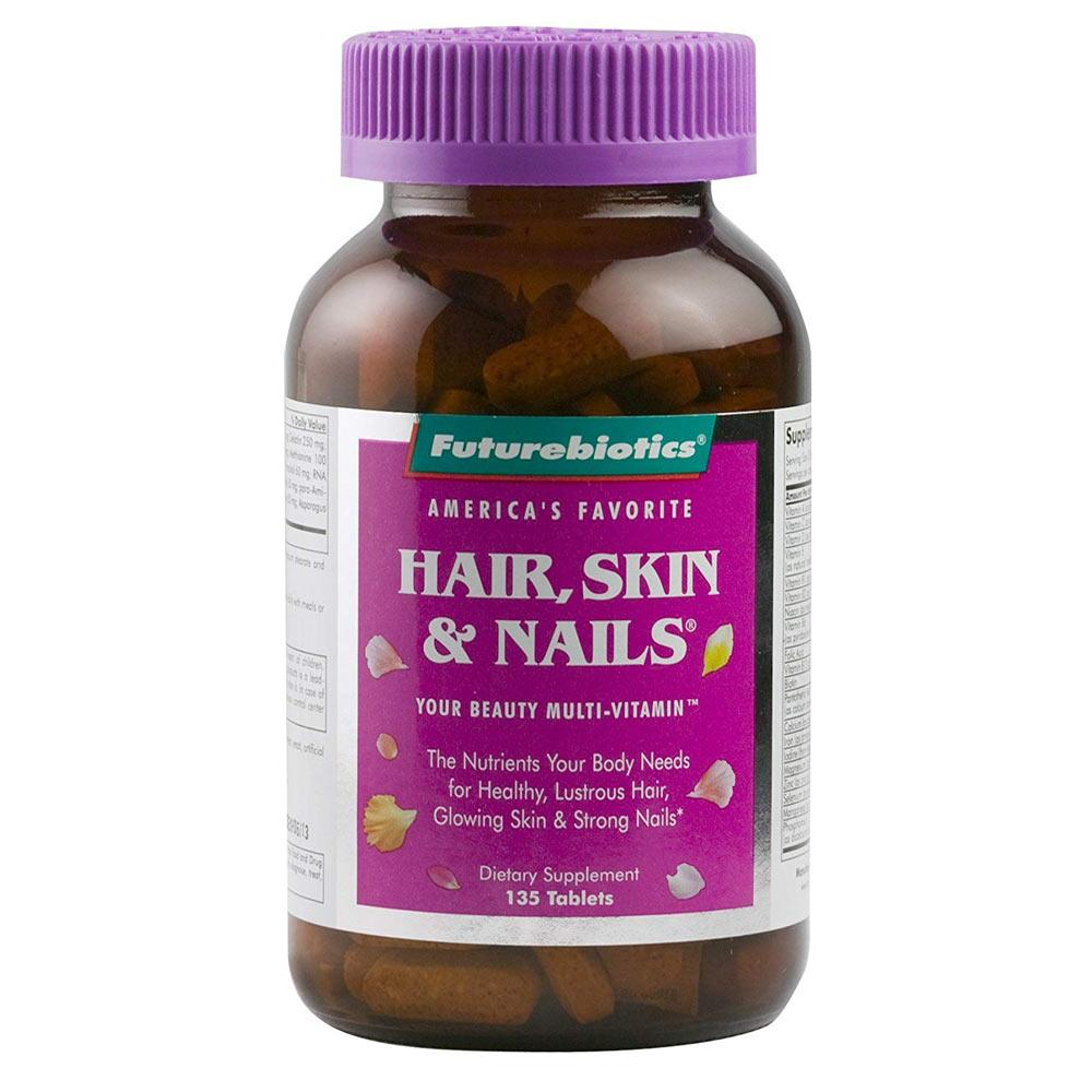 Futurebiotics Hair, Skin, & Nails 135 Tablets | Beauty Multi-Vitamin Specialty Health Products Futurebiotics  (1770923098155)