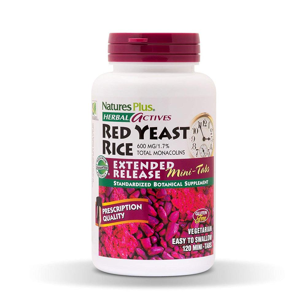 Nature's Plus Herbal Actives Red Yeast Rice 600mg 60 Tablets Herbs Nature's Plus  (1797542772779)