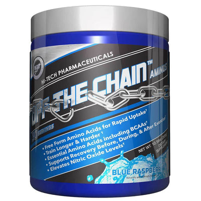 Hi-Tech Pharmaceuticals Off the Chain 30 Servings Amino Acids Hi-Tech Pharmaceuticals Blue Raspberry  (1059218456619)