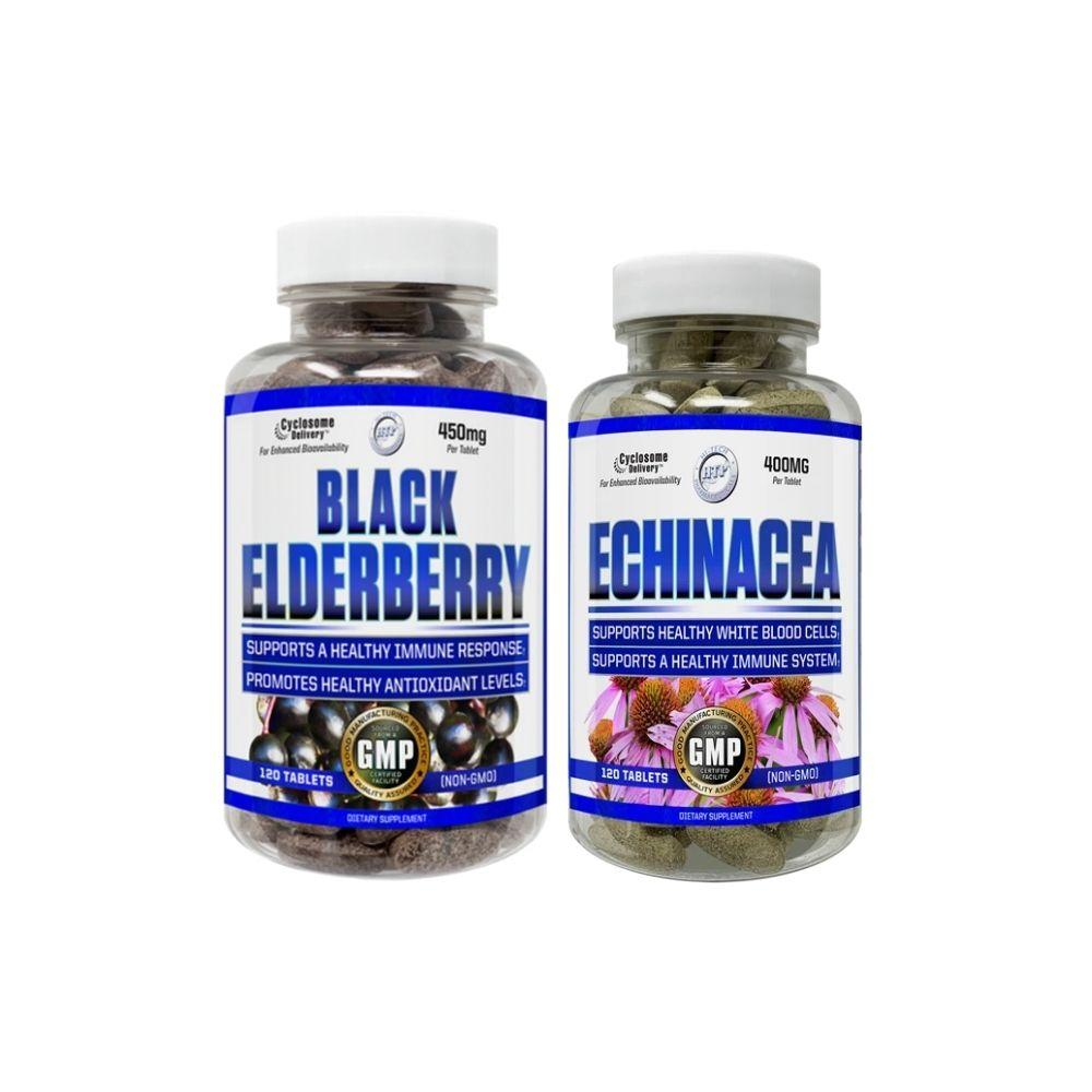 Hi-Tech Elderberry + Echinacea Stack Vitamins & Minerals Hi-Tech Pharmaceuticals  (4598544400449)