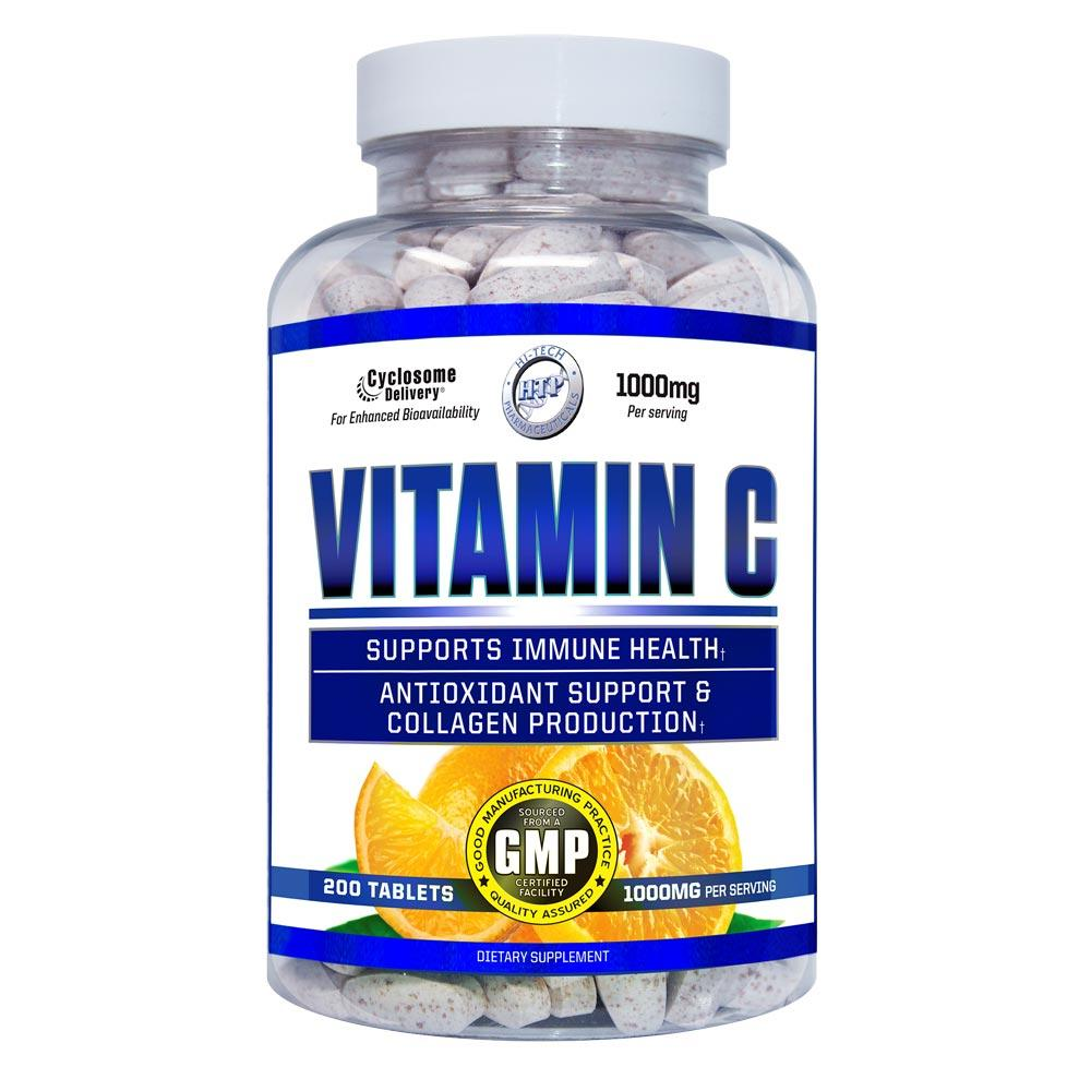 Hi-Tech Pharmaceuticals Vitamin C 1000mg 200 Tablets Vitamins & Minerals Hi-Tech Pharmaceuticals  (4360272904257)