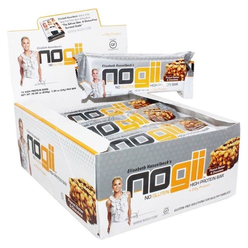 NoGii High Protein Bar Peanut Butter & Chocolate 12/Box Protein NoGii  (1058770059307)