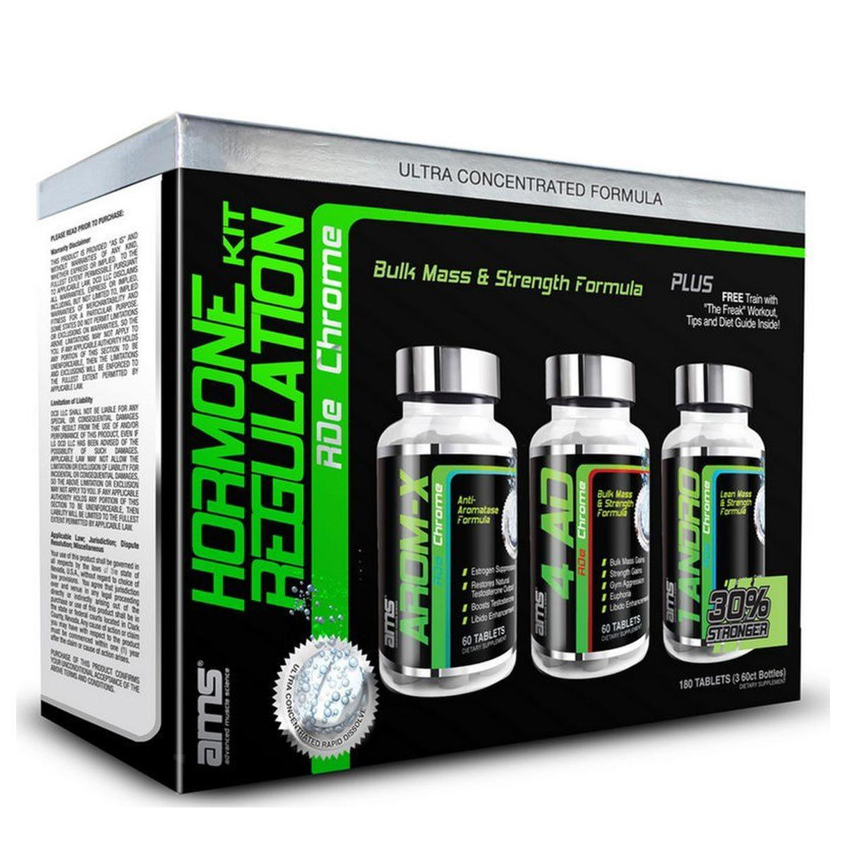 AMS HORMONE REGULATION KIT Prohormones, Andro & Support Advanced Muscle Science  (1059302670379)