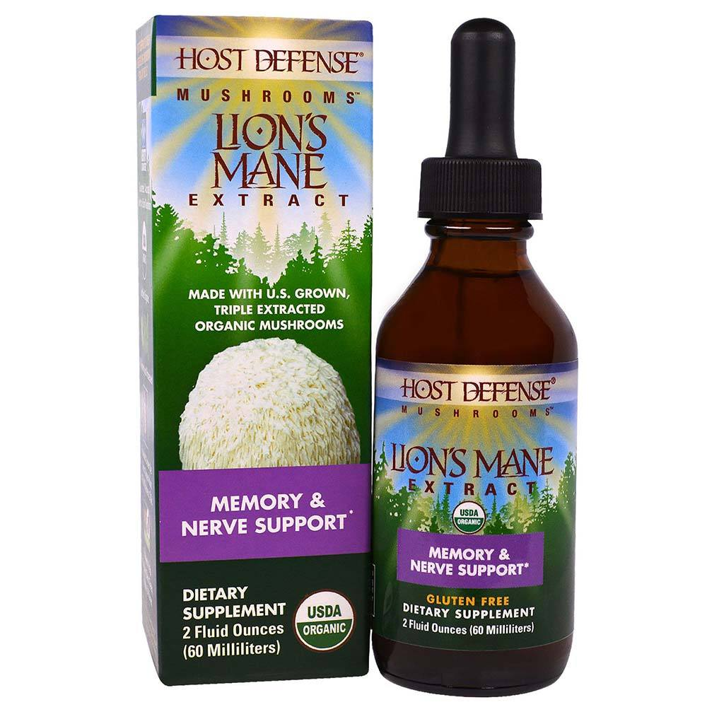 Host Defense Lion's Mane Extract 2Fl Oz Specialty Health Products Fungi Perfect  (1638762807339)