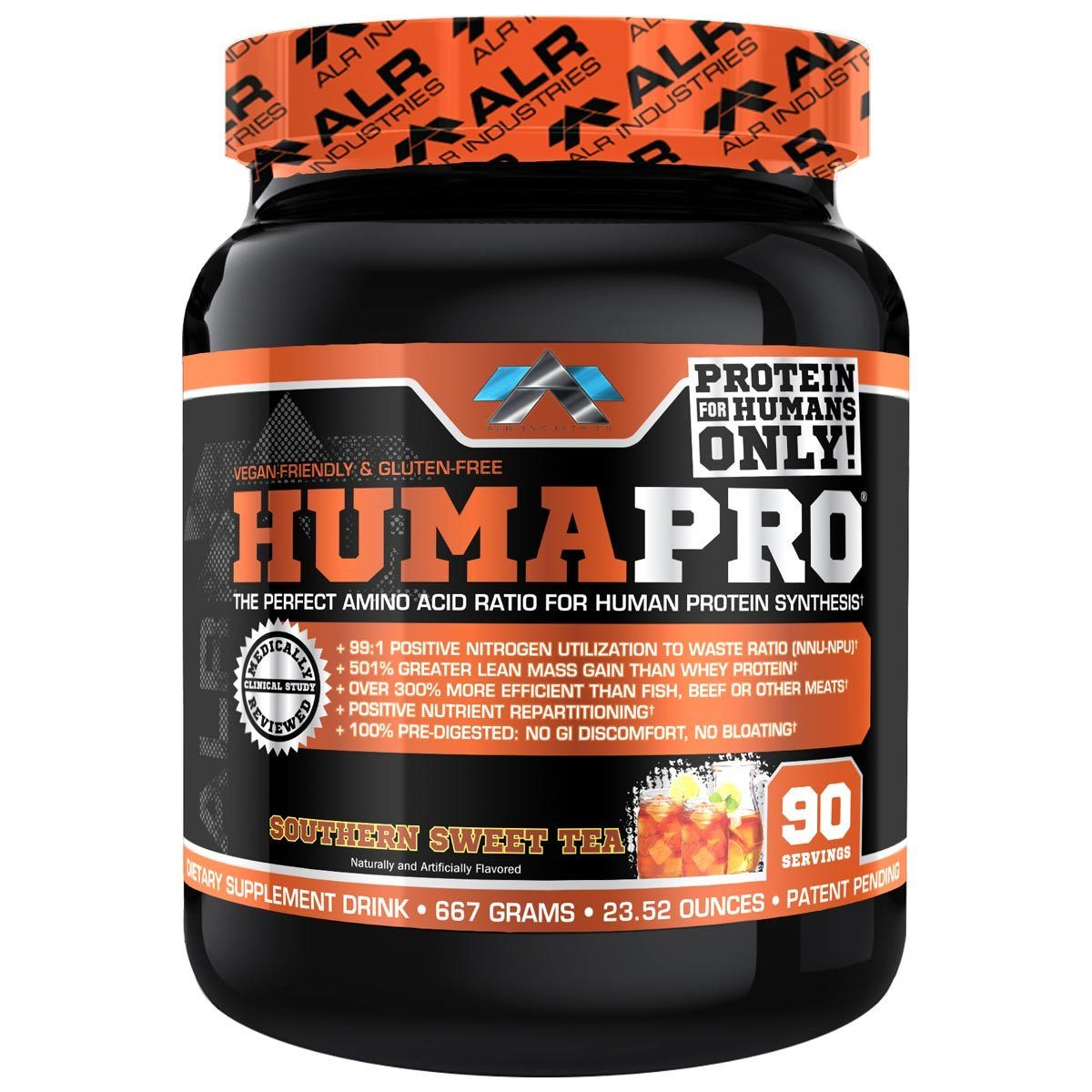 ALRI (ALR Industries) Humapro 90 Servings Amino Acids ALRI (ALR Industries) Sweet Tea  (1059273605163)