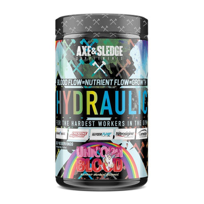 Axe & Sledge Hydraulic Stim-Free Pre-Workout | Pre-Pump Sports Performance Recovery AXE & SLEDGE UNICORN BLOOD  (1812332544043)