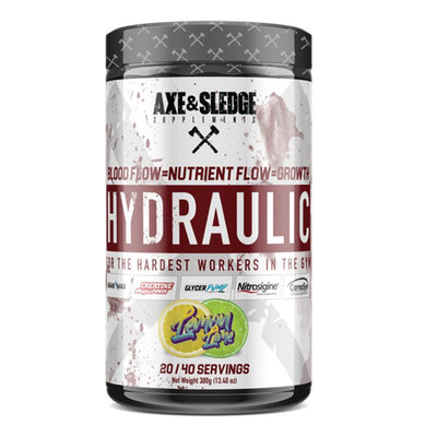 Axe & Sledge Hydraulic Stim-Free Pre-Workout | Pre-Pump Sports Performance Recovery AXE & SLEDGE LEMON LIME  (1812332544043)