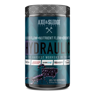 Axe & Sledge Hydraulic Stim-Free Pre-Workout | Pre-Pump Sports Performance Recovery AXE & SLEDGE SCORPION VENOM  (1812332544043)