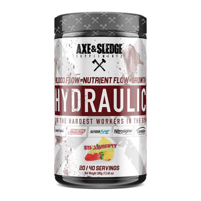 Axe & Sledge Hydraulic Stim-Free Pre-Workout | Pre-Pump Sports Performance Recovery AXE & SLEDGE STRAWBERRY LEMONADE  (1812332544043)