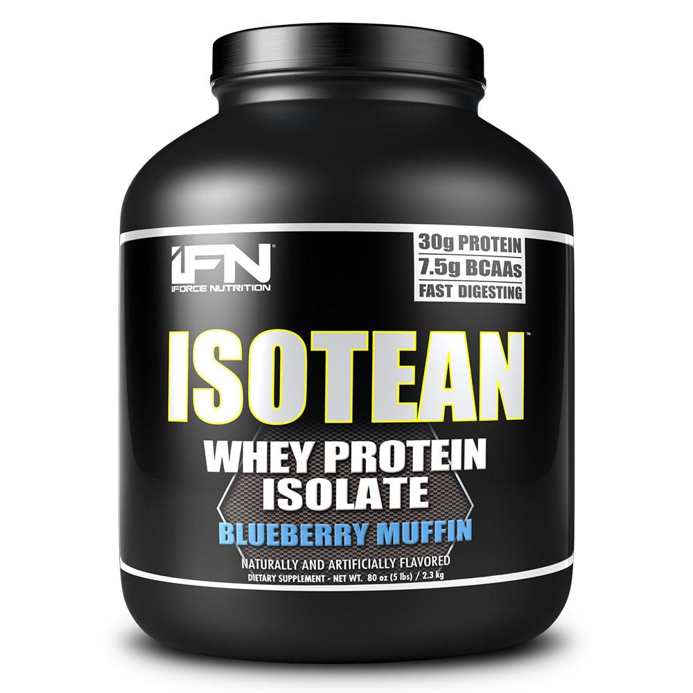 Isotean 5 Lbs Protein Powders IFORCE Blueberry Muffin  (1575756759083)