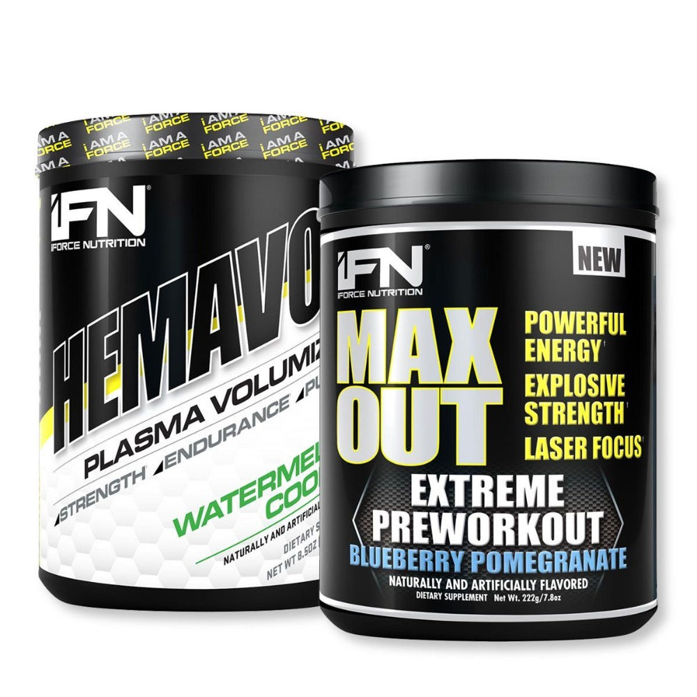 iForce Nutrition Max Out & Hemavol Stack Pre-workout IFORCE  (1163094392875)