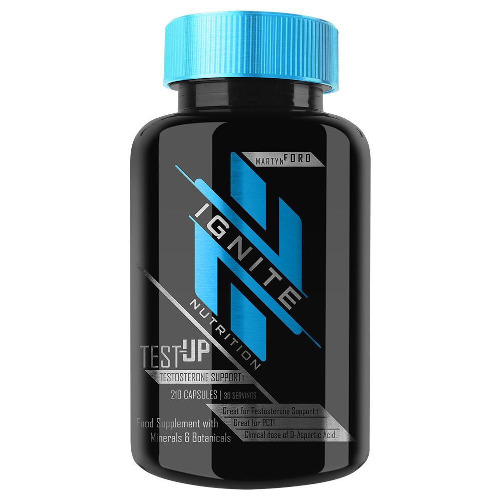 Ignite Test-Up 210 Capsules Sports Performance Recovery Ignite  (4405715206209)