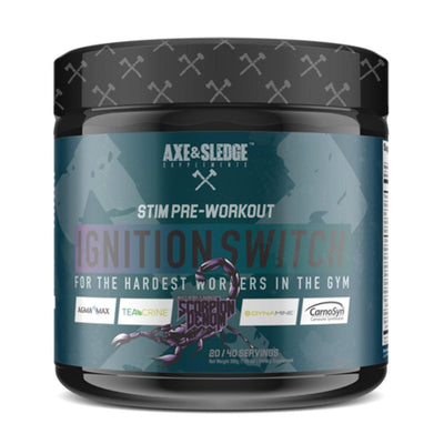 Axe & Sledge Ignition Switch 40 Servings | Stim Pre-Workout Sports Performance Recovery AXE & SLEDGE Scorpion Venom  (1812332576811)