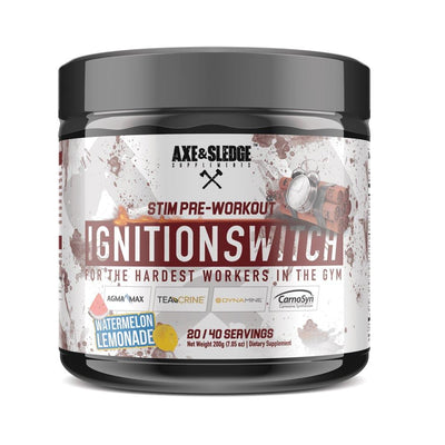 Axe & Sledge Ignition Switch 40 Servings | Stim Pre-Workout Sports Performance Recovery AXE & SLEDGE WATERMELON LEM  (1812332576811)