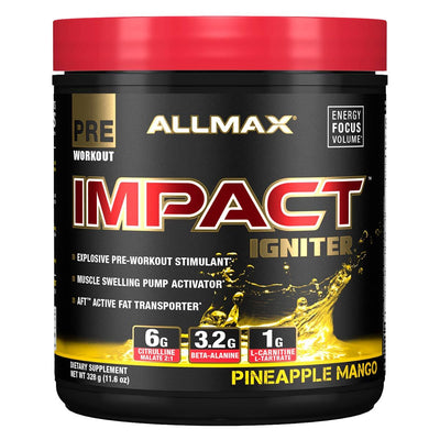 Allmax Nutrition IMPACT Igniter 20 Servings Amino Acids Allmax Nutrition Pineapple Mango  (1059295887403)
