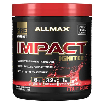 Allmax Nutrition IMPACT Igniter 20 Servings Amino Acids Allmax Nutrition Fruit Punch  (1059295887403)