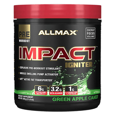 Allmax Nutrition IMPACT Igniter 20 Servings Amino Acids Allmax Nutrition Green Apple Candy  (1059295887403)